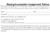 Missing Assignment Notice