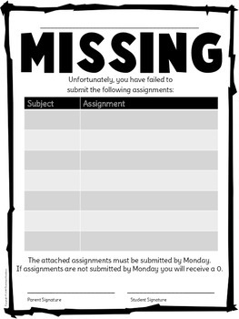 Missing Assignment Notification