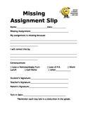 Missing Assignment Slip