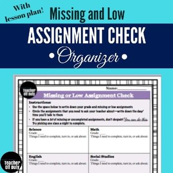 Missing Assignment Student Organizer