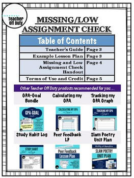 Missing Assignment Check Organizer