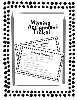 Missing Assignment Ticket