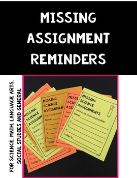Missing Assignments Reminders
