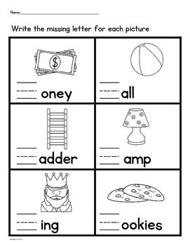 Missing Beginning Letter