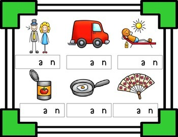 Missing Beginning Sounds - a Word Families