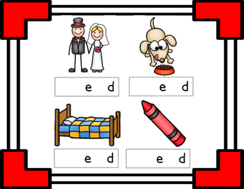 Missing Beginning Sounds - e word families