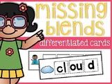 Missing Blends Differentiated Cards