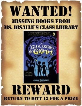 missing library books wanted posters by class with sass tpt