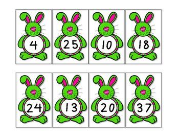 Missing Bunny Number Patterns FREEBIE!!
