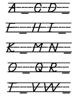Missing Capital Letters (Modern Manuscript)