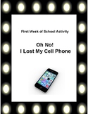 First Week of School -Missing Cell Phone Activity