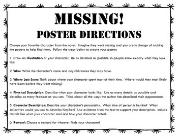 Missing Character Poster