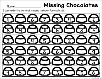 Missing Chocolates - Number Order Practice