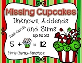 Missing Christmas Cupcakes Unknown Addends and Sums to 20