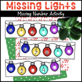 Missing Christmas Lights Sequencing Numbers Activity