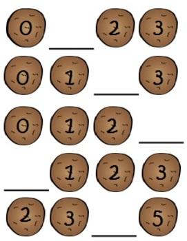 Missing Cookies- Missing Number File Folder Games