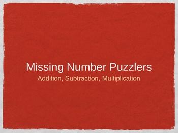Missing Digit Puzzlers