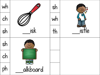 Missing Digraph Clip Cards