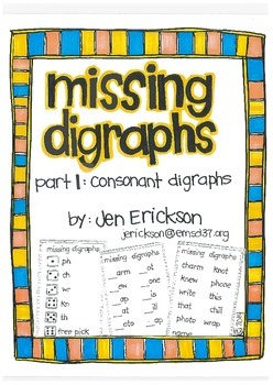 Missing Digraphs:  Part 1 Consonants