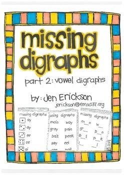 Missing Digraphs:  Part 2 Vowels
