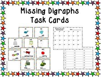Missing Digraphs Task Cards