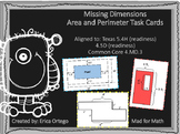 NEW! Missing Dimensions Area and Perimeter Task Cards 5.4H