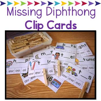 Missing Dipthong Clip Cards