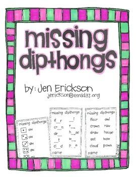Missing Dipthongs