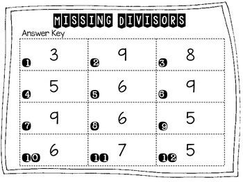 Missing Divisors