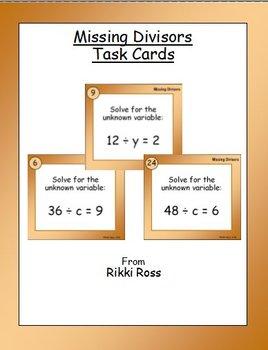 Missing Divisors Task Cards