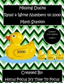 Missing Ducks Read & Write Numbers to 1000 Math Station 2.NBT.3