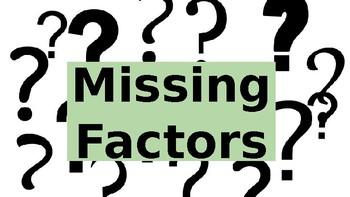 Missing Factor Digital Task Cards