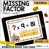 Missing Factor: Fall Edition BOOM Cards™