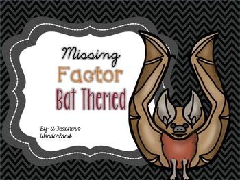 Missing Factor Game- Bat theme