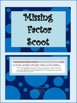 Missing Factor Scoot