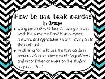 Missing Factor Task Cards
