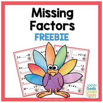 Missing Factor Thanksgiving Turkey Freebie