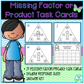 Missing Factor or Product Task Cards