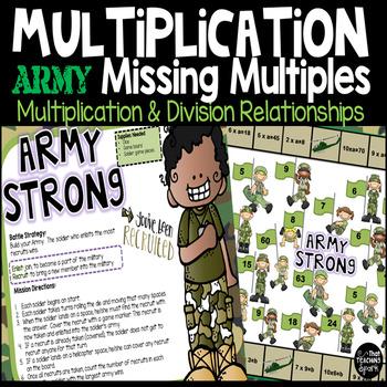 Missing Factors Multiplication Game