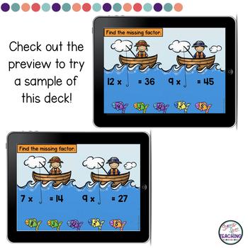 Missing Factors Multiplication Set 2 Boom Cards