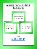 Missing Factors Multiplication Task Cards (Set 2)