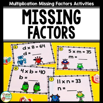 Multiplication Facts With Missing Factors For Fact Familie