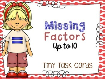 Missing Factors Tiny Task Cards