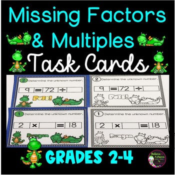 Missing Factors and Multiples Task Cards