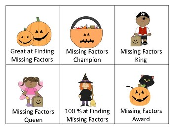 Missing Factors at Halloween