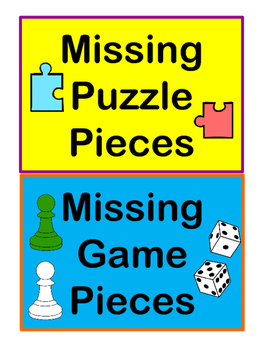 Missing Game Piece Basket Signs
