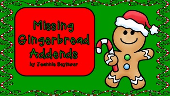 Missing Gingerbread Addends