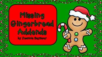 Missing Gingerbread Addends