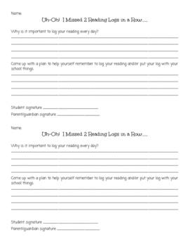 Missing Homework Accountability Logs