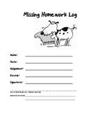 Missing Homework Assignment Log Form